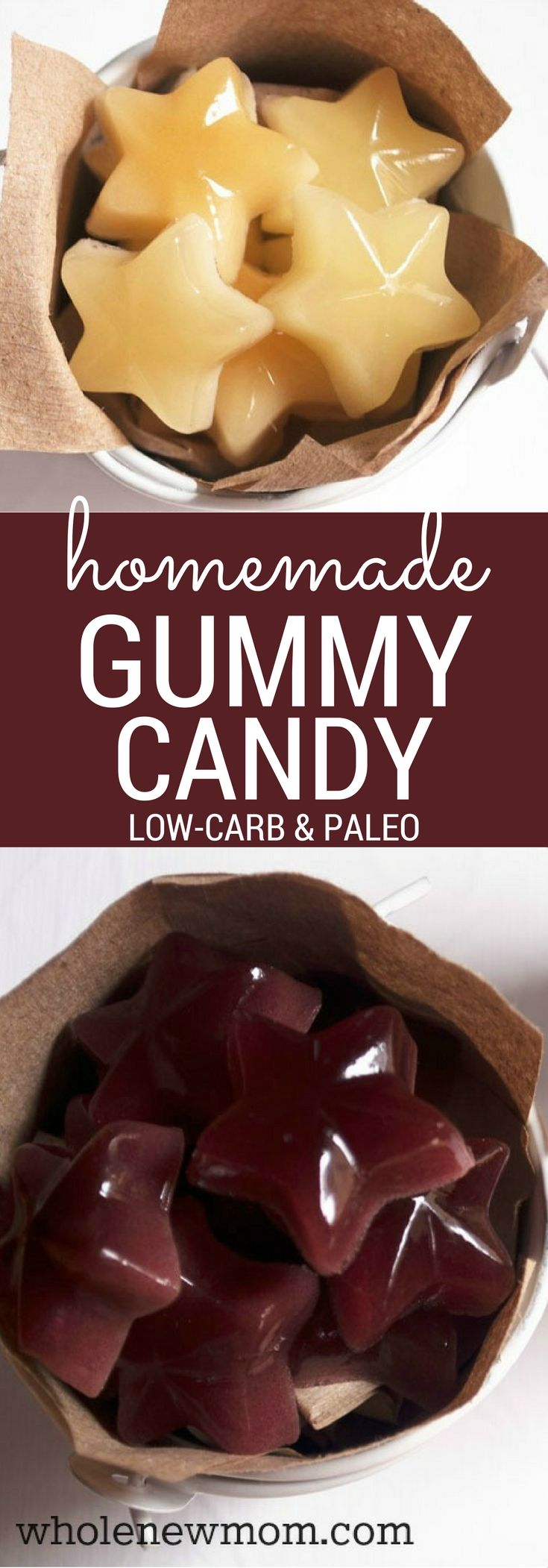 """Homemade Gummy Candy - that's Yummy and Sugar-Free and has a healthy special ingredient to boot! Vegan option included. These are a great fun snack that are sooo much better for you than store-bought """"gummies"""" and they're cheaper too :)!"""