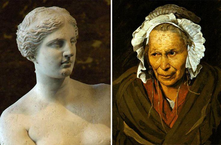 Venere di Milo e un'Alienata di Gericault. Studiare l'arte confrontando gli opposti | DidatticarteBlog