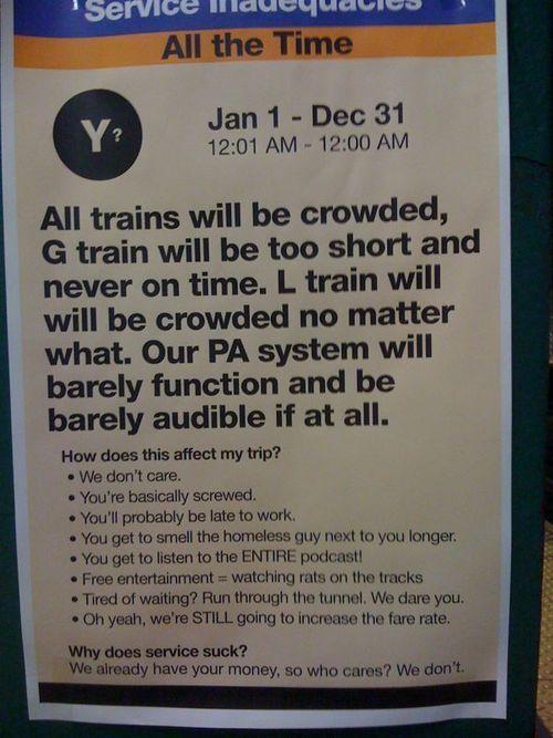 New York Underground - Service Information