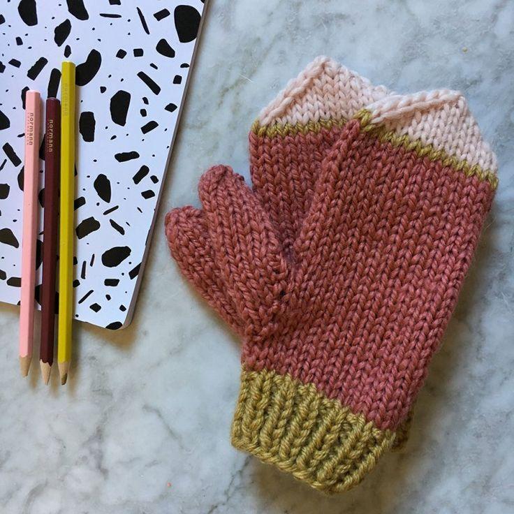 patron gratuit pour tricoter des moufles / mademoiselle quincampoix / knitting pattern