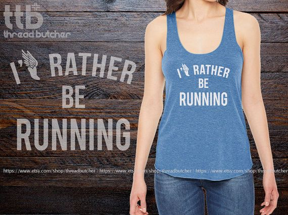I'd Rather Be Running Marathon printed on by threadbutcher on Etsy