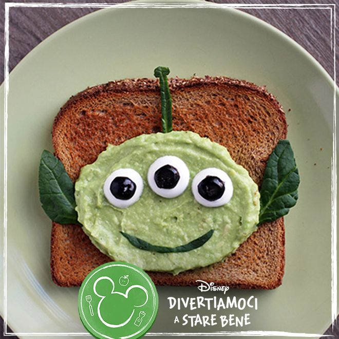 Toast alieno all'avocado di Toy Story