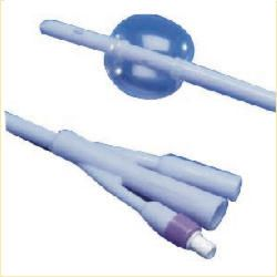 Kendall Dover 2-Way Silicone Foley Catheter, 16″, 16 Fr, 5cc Balloon, Uncoated