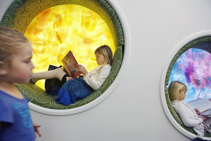 kids' pod at Los Gatos public library