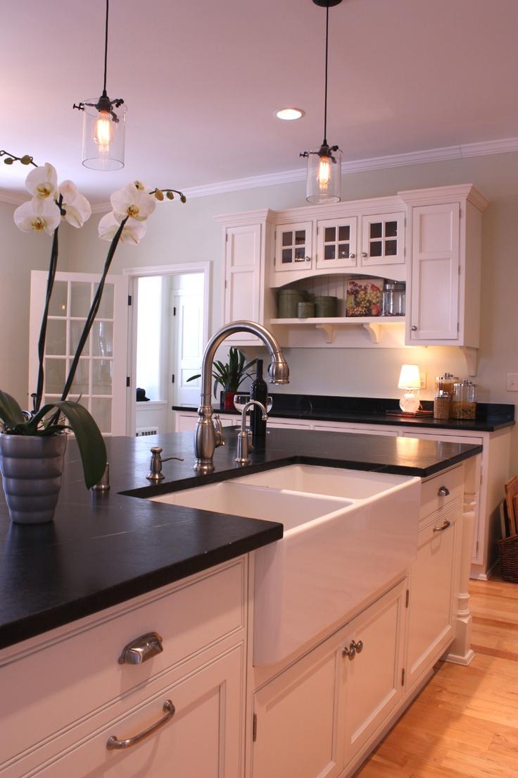 farmhouse sink images  pinterest kitchen white dream kitchens  home ideas