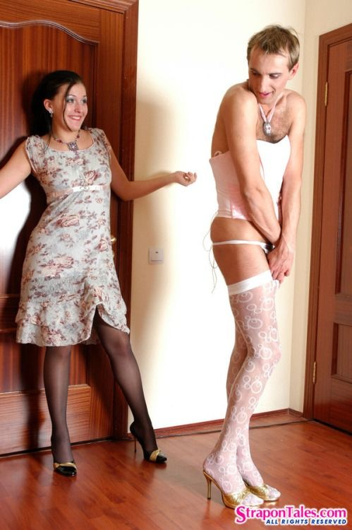 To pantyhose forced wifes Husband wear