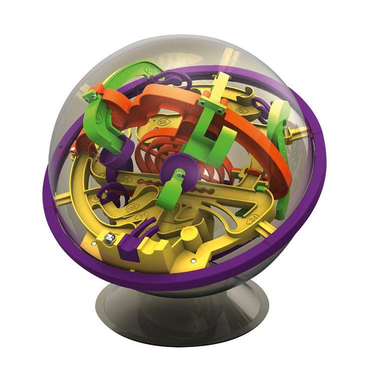 Votre enfant devra faire progresser une bille dans un labyrinthe 3D coloré contenu dans une sphère. Mais gare à la spirale infernale et à la rampe du péril ! Seuls les plus adroits triompheront de Perplexus !