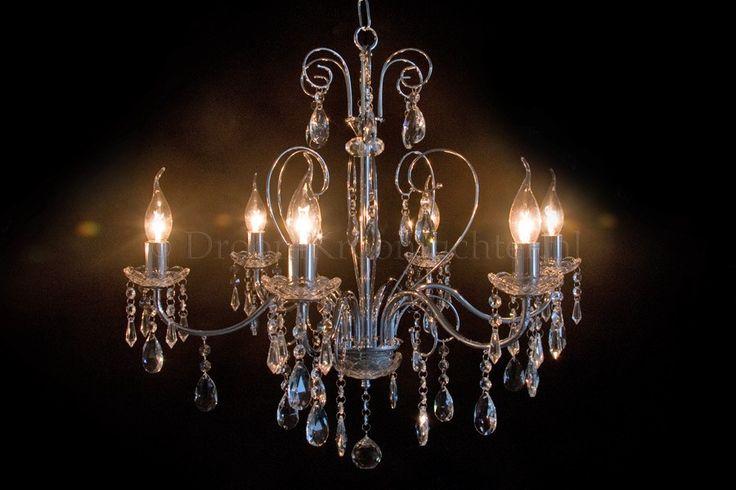 Kristallen Kroonluchter Ricci 6 lichts (chroom)