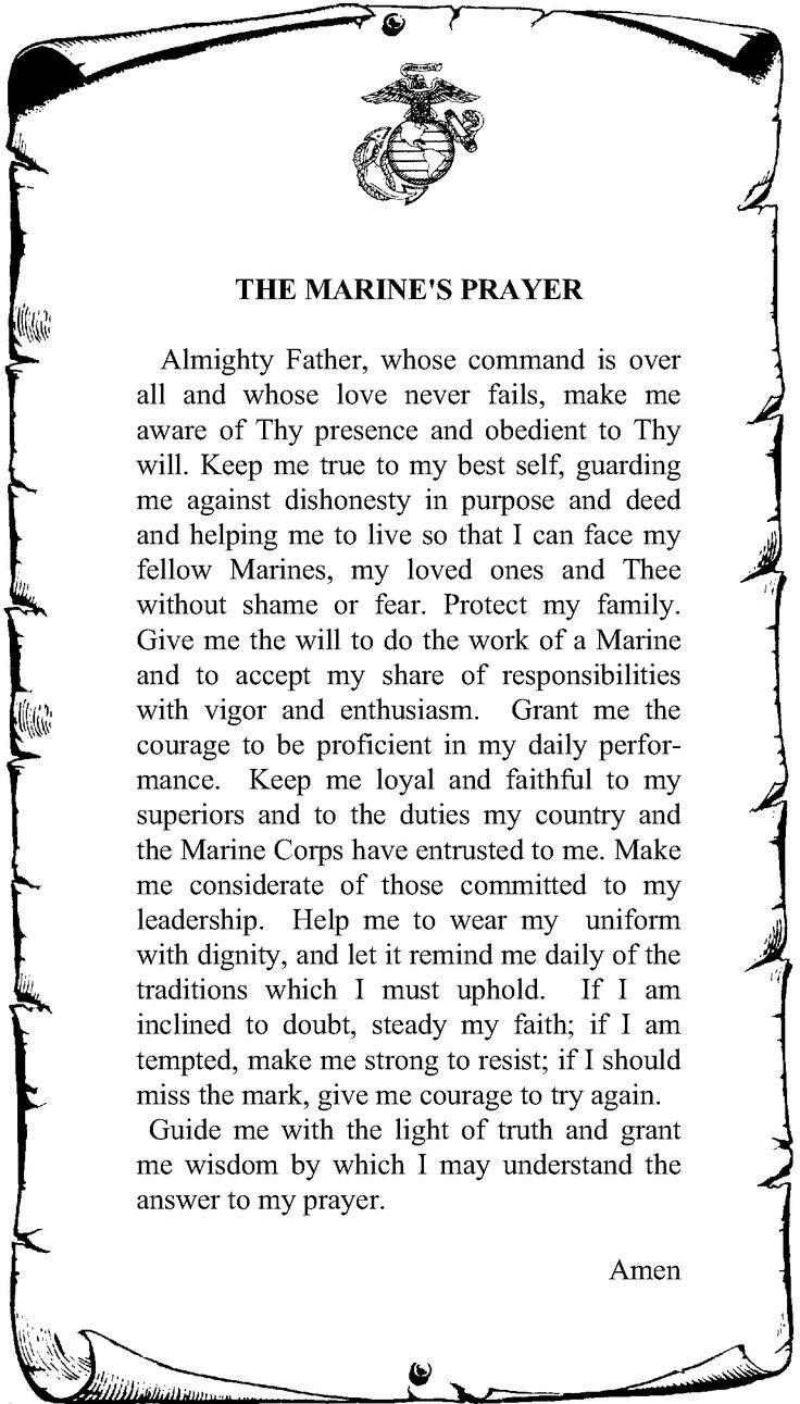 Marines Prayer, Marine Prayer, Marine Corps Prayer