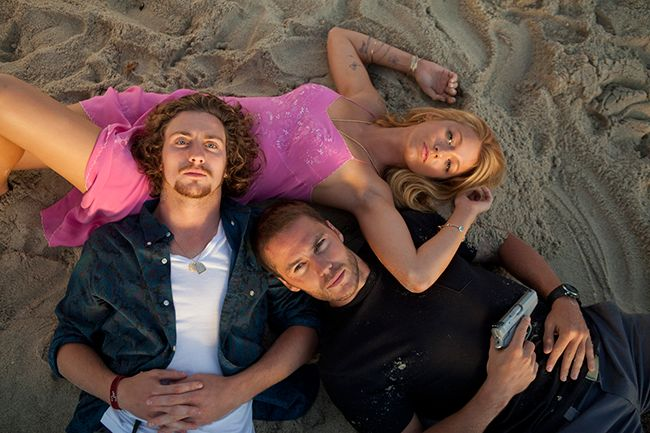 Aaron Taylor-Johnson, Taylor Kitsch, and Blake Lively as Ben, Chon, and O in 'Savages' (2012)