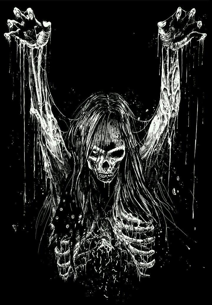 Pin By Amy On Draw Black Metal Art Heavy Metal Art Horror Art