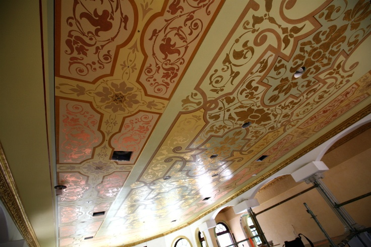 By istvan torok a paint ceilings finishes pinterest for Ceiling mural painting techniques