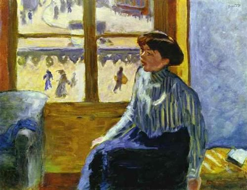 Young Woman Before the Window - Pierre Bonnard