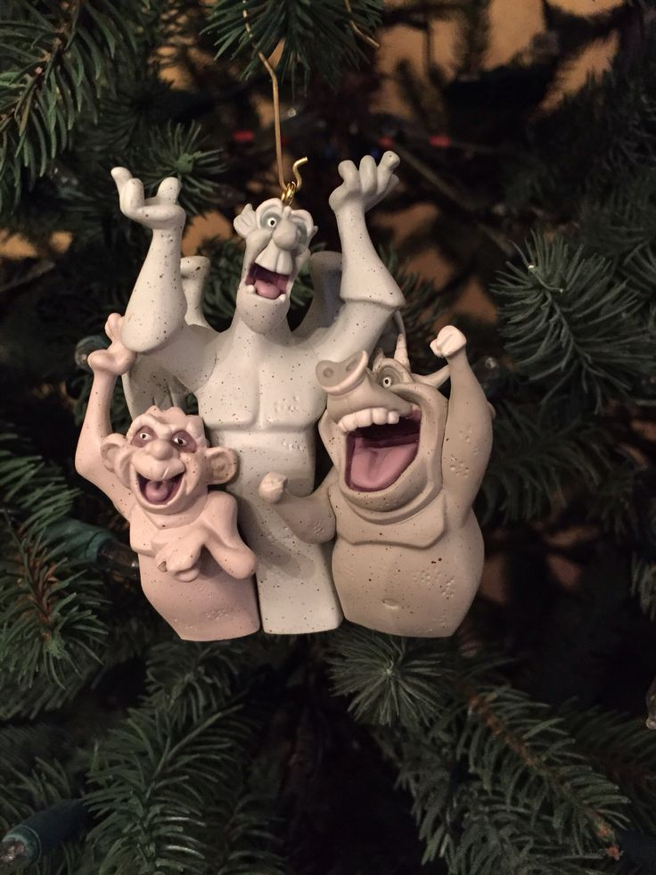 Victor, Hugo and Laverne- Gargoyles from The Hunchback of Notre Dame