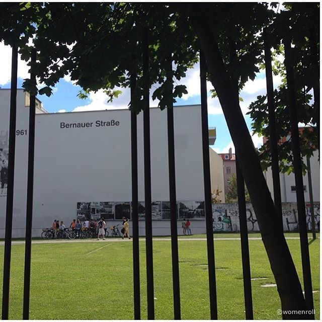 Check us out on instagram! Stop along Bernauer Straße on our guided Berlin Wall Bike Tour