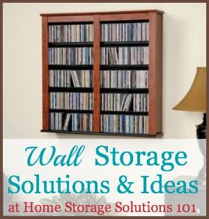 Here are the top picks for wall storage solutions and ideas, to make use of all the storage space at your disposal in your home from floor to ceiling.