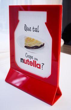 Displays de mesa personalizados desenvolvidos para Nutella