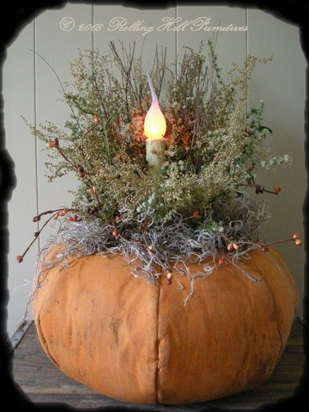 Prim Pumpkin Light- i need to make this