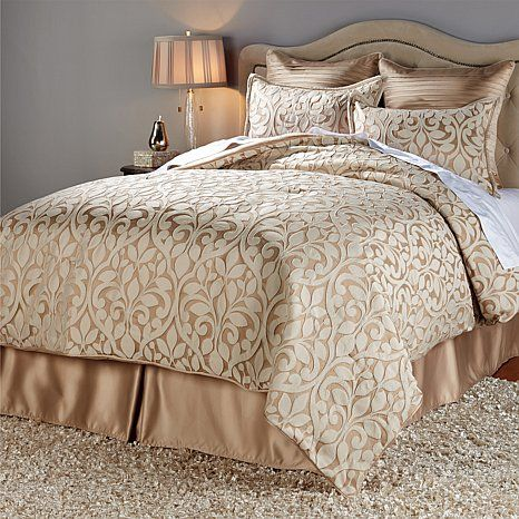 The new King size bedding for my new home.   Highgate Manor Estrella 6-piece Comforter Set