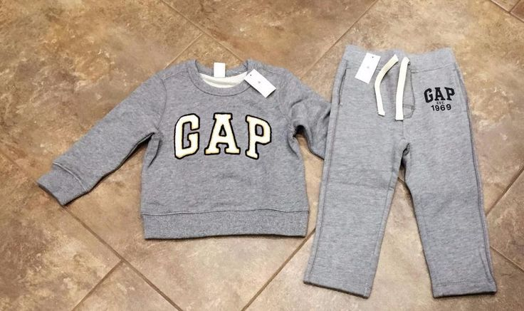 Boys GAP Outfit - Sweatshirt & Sweatpants Size 2T Gray NEW WITH TAGS Cute Set! #BabyGap