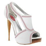 HERSTAR™ Women's Baseball High Heel (Atlanta Braves, Baltimore Orioles, Boston Red Sox, Chicago Cubs, Cincinnati Reds, Cleveland Indians, Detroit Tigers, GIants, Los Angeles Angels, Los Angeles Dodgers, Milwaukee Brewers, Minnesota Twins, MLB, New York Me