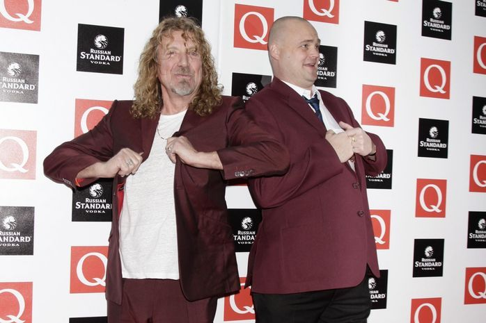 Robert Plant and Al Murray arriving for the Q Awards, at Grosvenor House in central London.