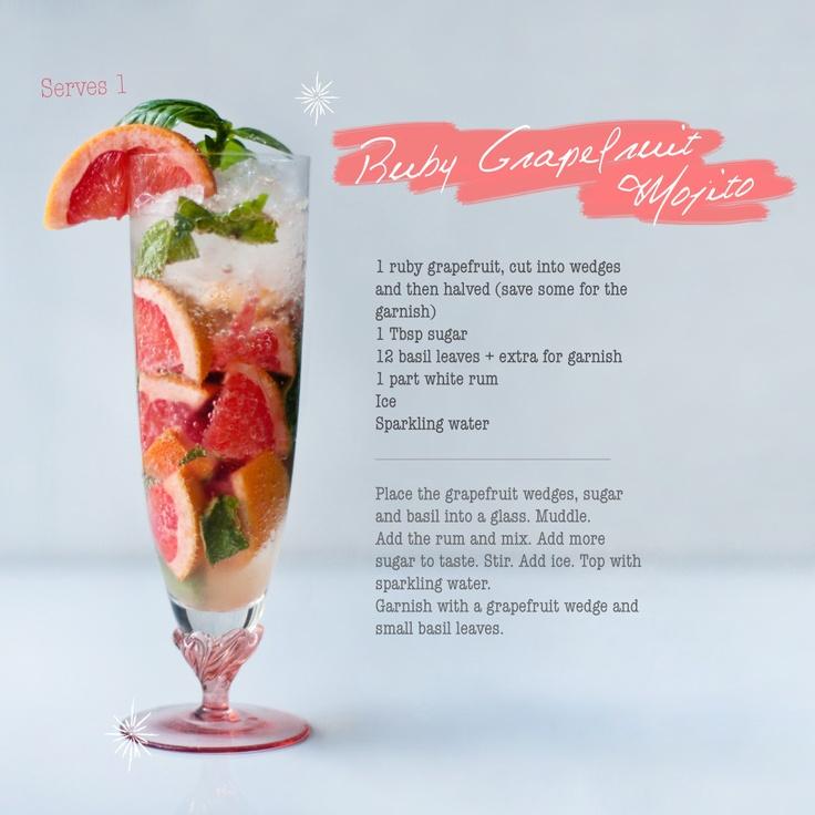 Ruby Grapefruit Mojito. #sundowners. Crush Online Magazine issue 30