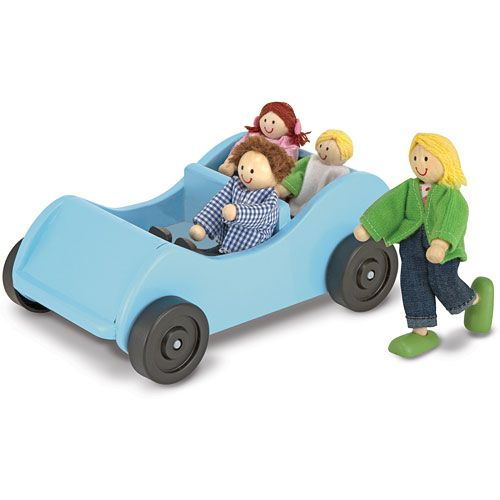 Wooden Car Play People Doll House Vehicle Roleplay Dramatic Play Melissa  And Doug Wooden Educational Toys Resources Early Childhood
