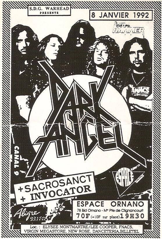 Old school Dark angel flyer