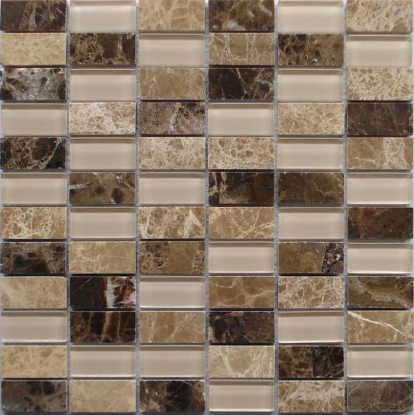 Lada Gs68 Glass Amp Stone Mixed Series Mosaic Tile
