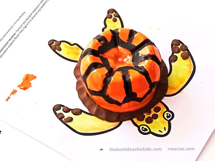 Turtle Craft with Plastic Bottle