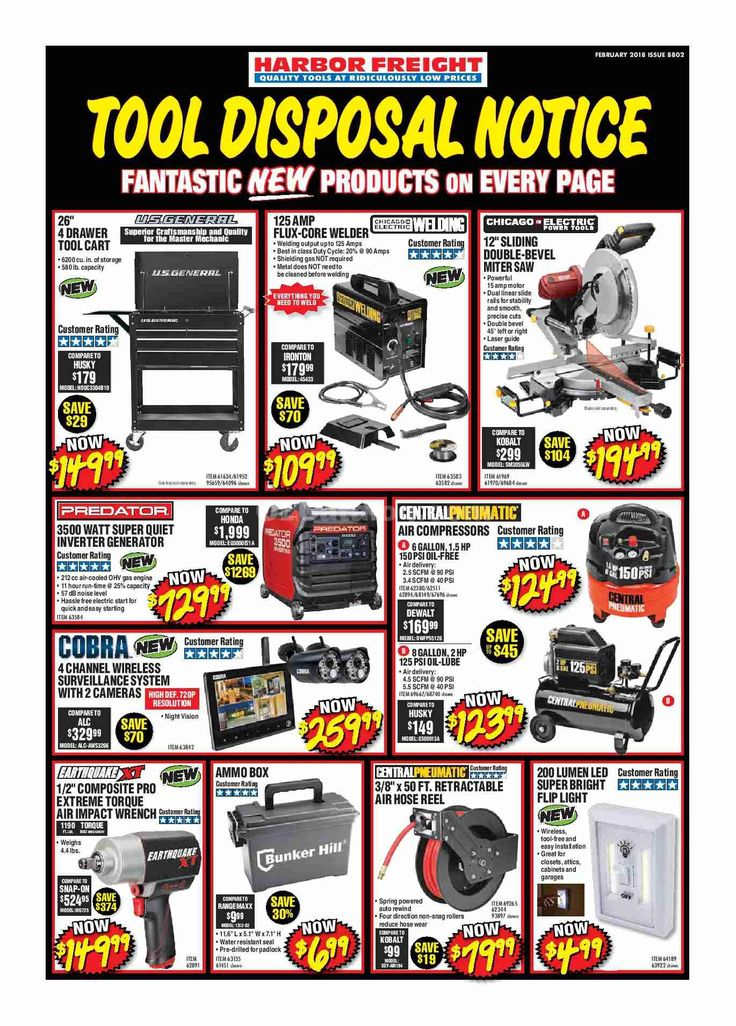 Harbor Freight Tools Ad February 2018 - http://www.olcatalog.com/harbor-freight-tools/harbor-freight-tools-weekly-flyer.html