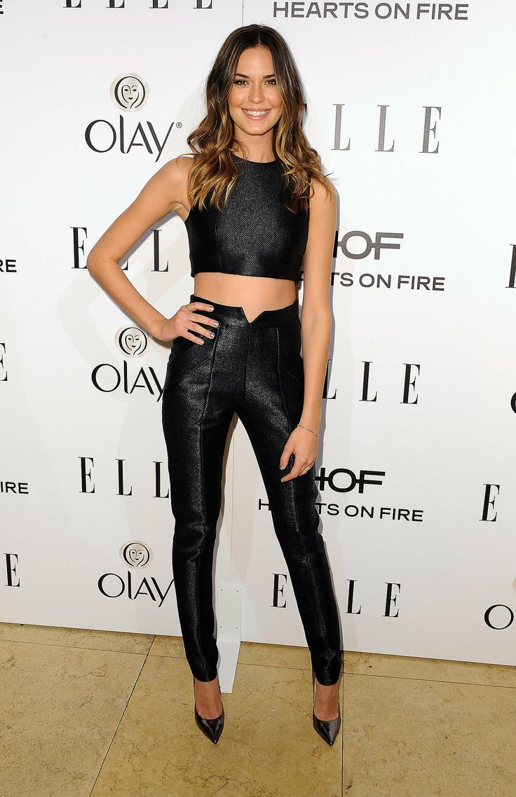 Odette Annable bared her midriff in a sexy shining duo.