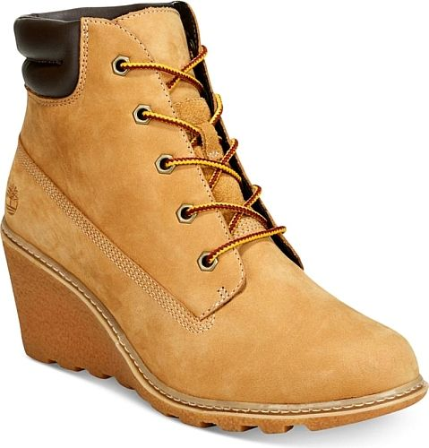 Presented Here are the Timberland Women's Amston Wedge Booties. Awesome boots created by Timberland shown in Wheat. We think that you'll feel great when you slide into these boots brought to you by the brand Timberland. #boots #booties #ankleboots #shoes #fashion