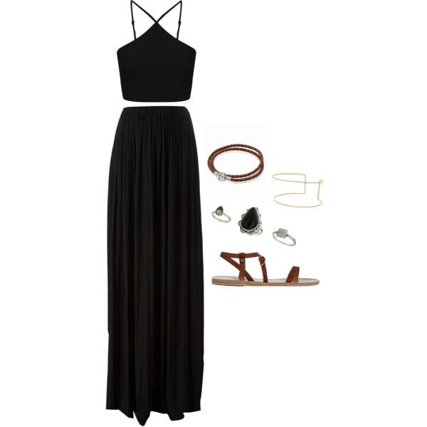 by agneslilian on polyvore featuring miss selfridge, lanvin, greek sandals, pandora, topshop and river island
