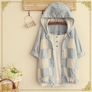 Buy Fairyland Hooded Check Shirt at YesStyle.com! Quality products at remarkable prices. FREE WORLDWIDE SHIPPING on orders over US$35.