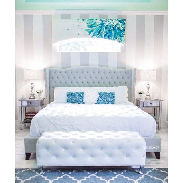 Our exclusive Jameson Bed adds chic elegance to Instagram fan @Natasha Smith's bedroom.