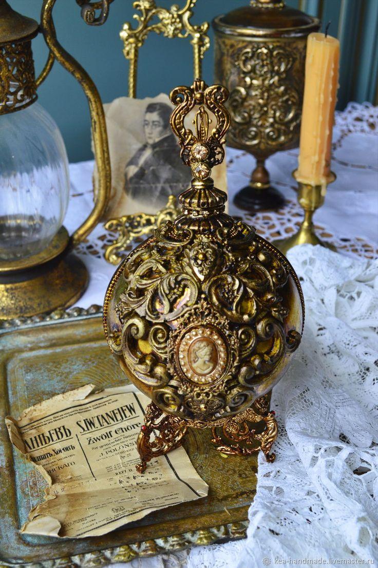 Купить Большой помпезный елочный шар на подставке в стиле барокко в интернет магазине на Ярмарке Мастеров