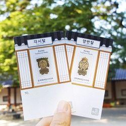 ::Korea Souvenir:: 하회탈 전자파 차단스티커 Hahoetal Anti-radiation Sticker (Yangban / Gakssi)