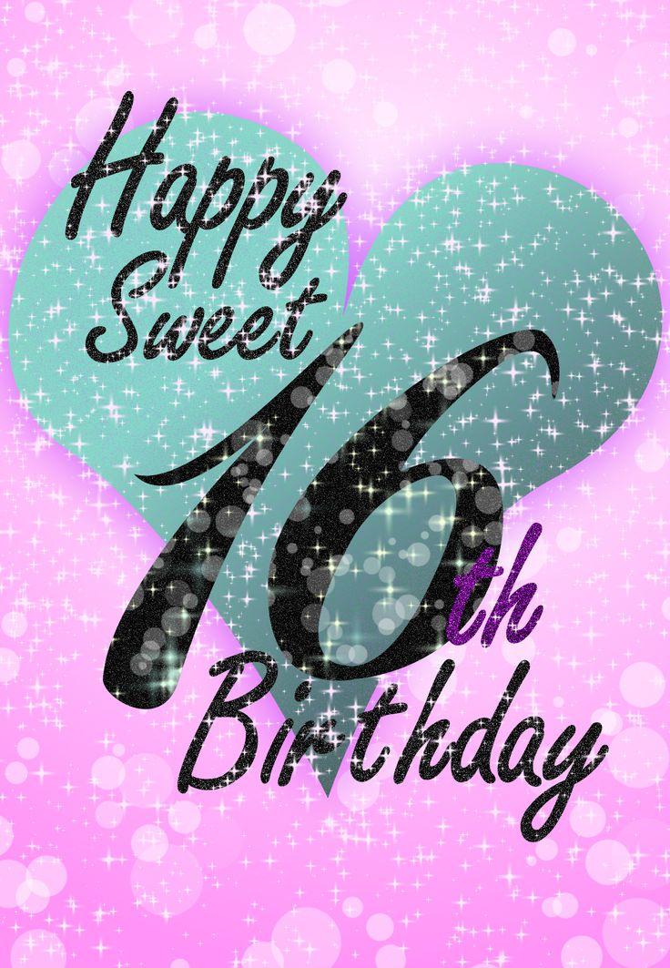 Free #Printable Sweet 16 #Birthday Greeting Card