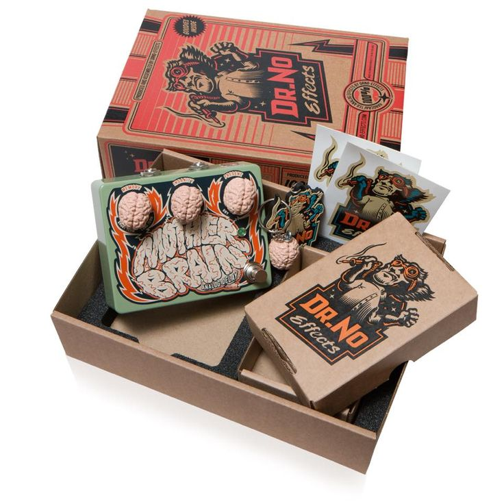 Dr.No Effects - Mother Brain Anaog Delay (guitar pedal packaging)