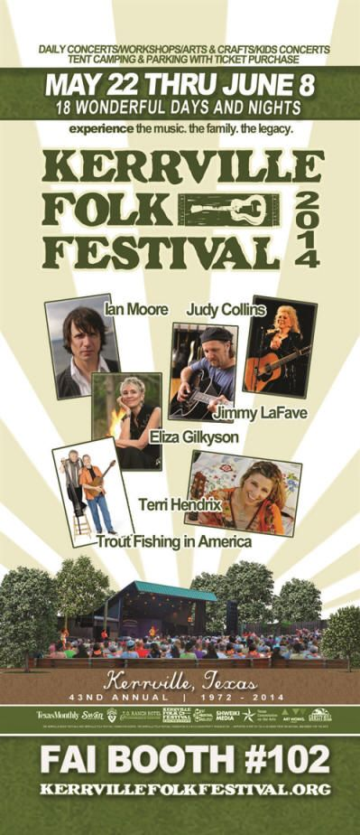 Kerrville Folk Festival - would love to attend this.