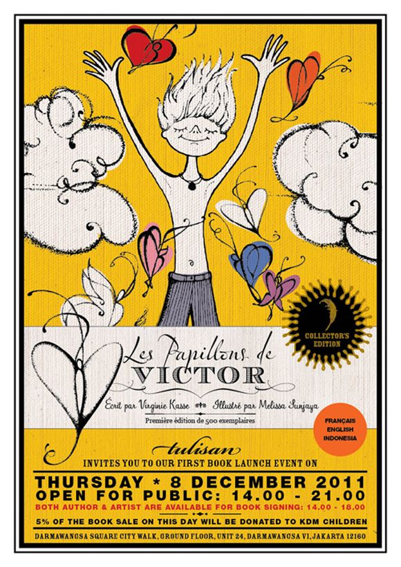 Les Pampillons de Victor  Victor's Butterflies   By Virginie Kasse