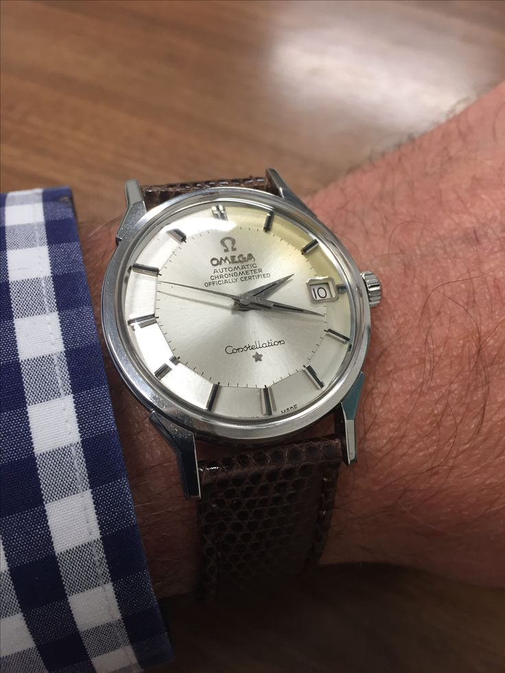 My newest! Dad's old Omega Constellation, purchased from the PX in Okinawa in 1966 I think.