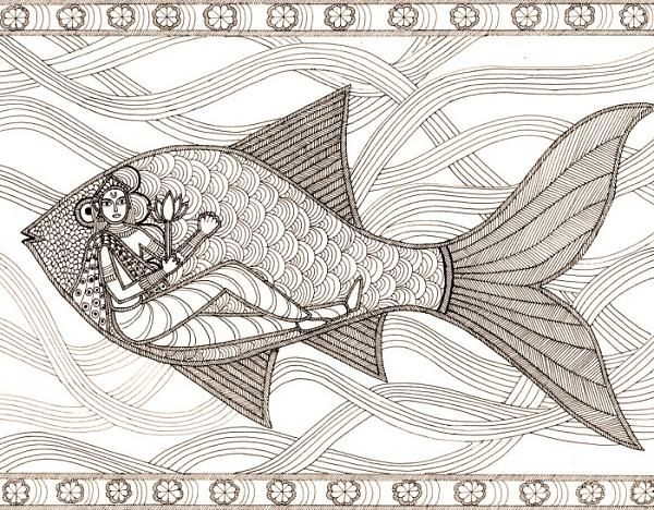 mithila madhubani painting - Google Search