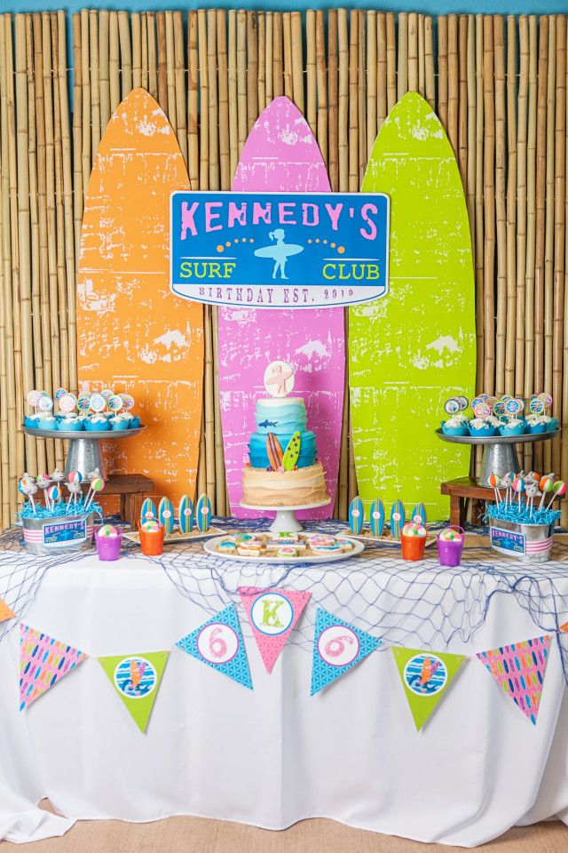 Girlie Surf Party Pool Party Ideas
