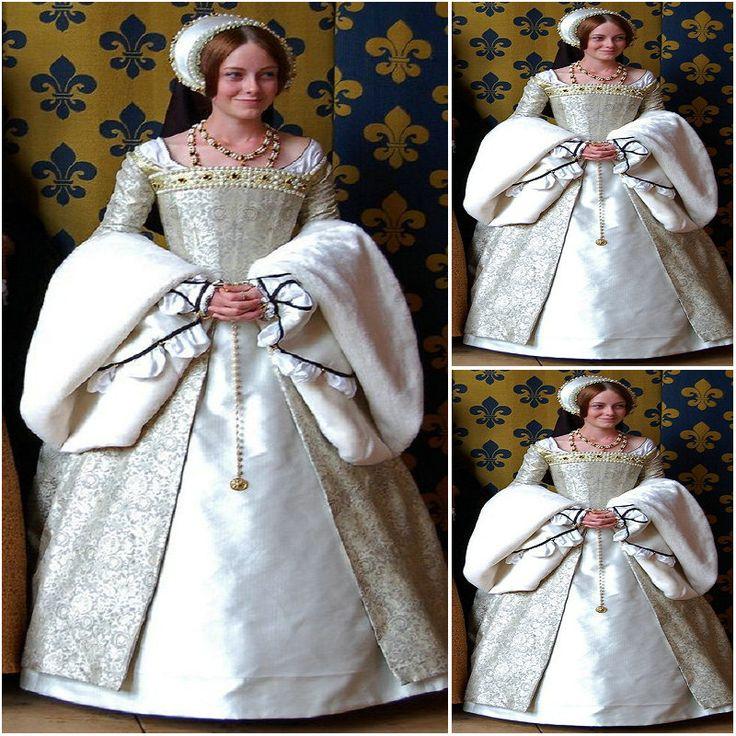 Freeship! Klant gemaakt Luxs Wit Vintage Kostuums Renaissance Jurken Steampunk jurk Gothic Cosplay Halloween Jurken C-1154 €299,82