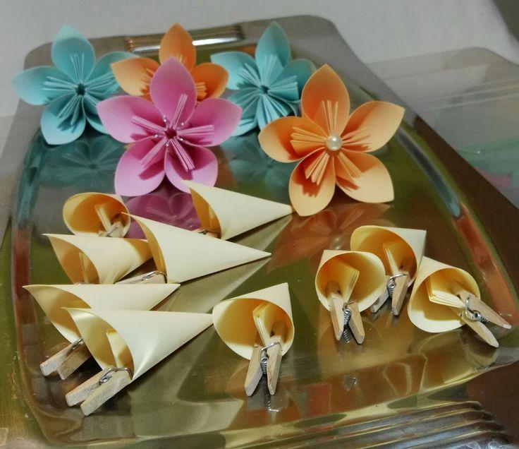 Flores de 5 pétalos en armado