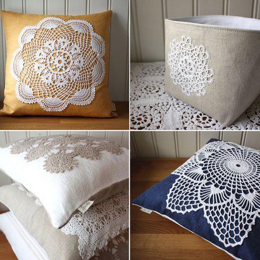 Doily pillows: