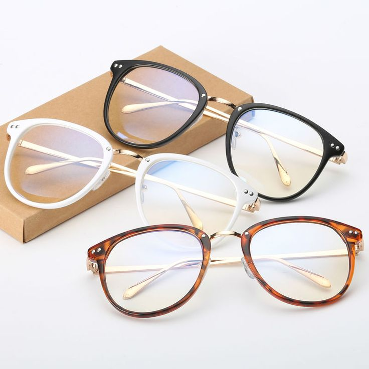 Newest Oversize Glasses Frames Metal Leg Vintage Eyeglasses Frame Women Men Fake Plain Glasses Fashion Eyewear For Woman man
